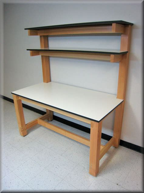 bench shelf rdm workbench f 103pl ds wd wood frame tech table w