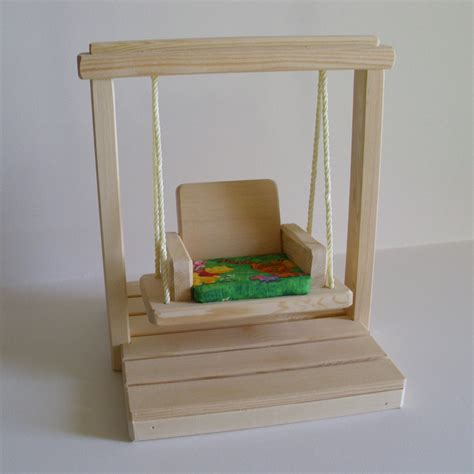 wooden doll house accessories wooden doll swing set doll house accessories by jacobswoodentoys