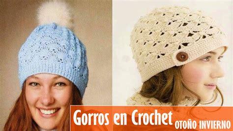 tejidos mujer gorros otoo invierno 2016 youtube gorros tejidos a crochet para mujer imagui