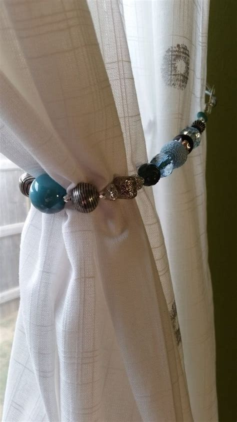 Turquoise Beaded Curtains 17 Best Images About Beaded Curtain Tiebacks On Sky Lush And Jewelry