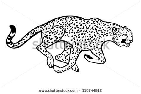 Running Cheetah Outline by Cheetah Outline Clipart Clipart Suggest