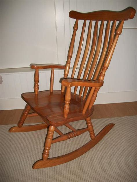 Classic Nursery Wooden Rocking Chair Youbou Cowichan Used Rocking Chairs For Nursery