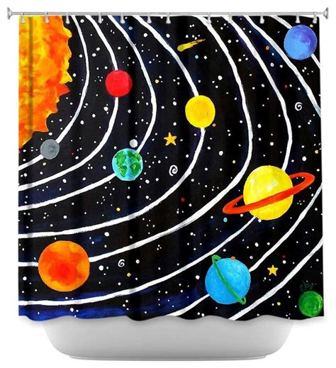solar system shower curtain shower curtain artistic solar system contemporary