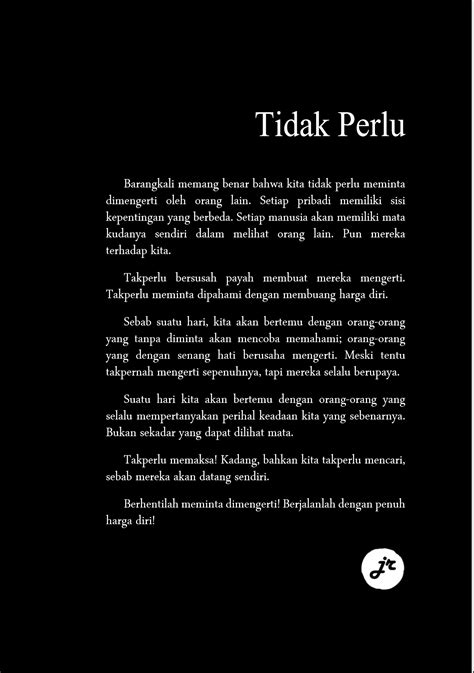 Tidak Perlu tidak perlu indo qoutes poem and islam