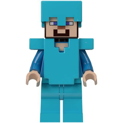 Minecraft Lego Minifigure Steve lego steve with armor minifigure inventory brick owl