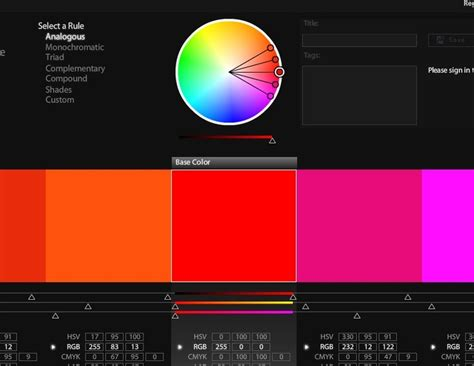 color themes kuler kuler adobe driverlayer search engine
