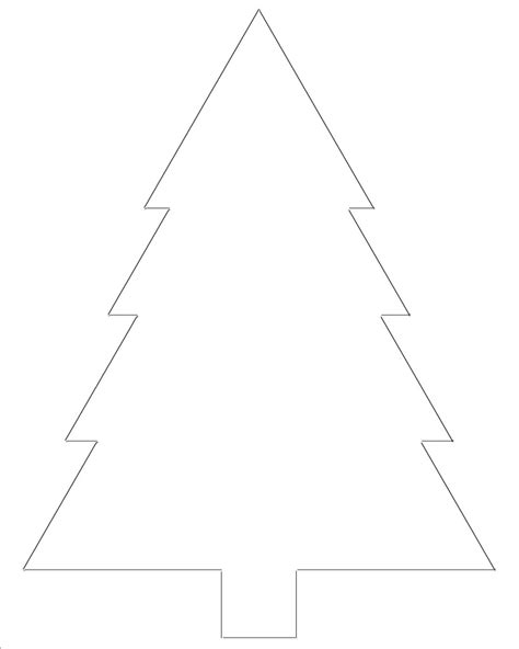 christmas tree cutouts printable