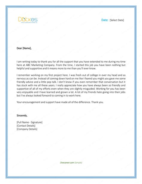 thank you letter to employees for gift free sle staff appreciation letter thank you letter