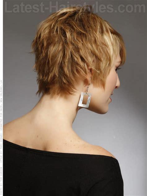 back of short choppy haircuts for women back view short haircuts