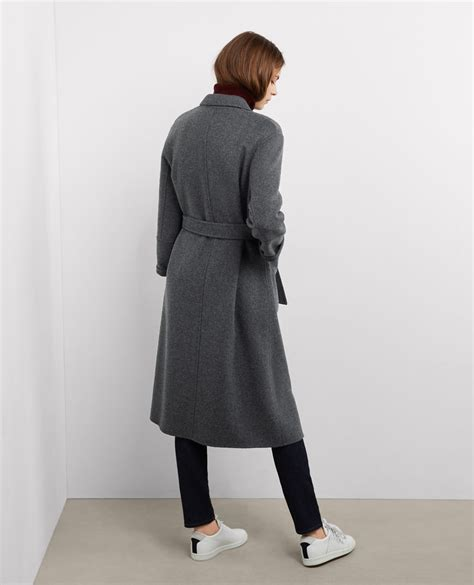 Maxi Coat oversize maxi coat with wool grey bille