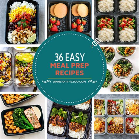 meal prep cookbook easy and delicious recipes to prep your week breakfast edition book 1 books 36 easy meal prep recipes dinner at the zoo
