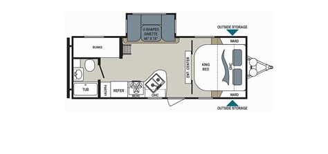 cing trailer floor plans aerolite floor plans new 2017 dutchmen aerolite 2520rksl