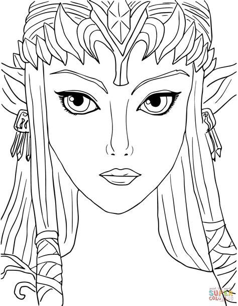 coloring pages of twilight princess disegno di legend of twilight princess da colorare