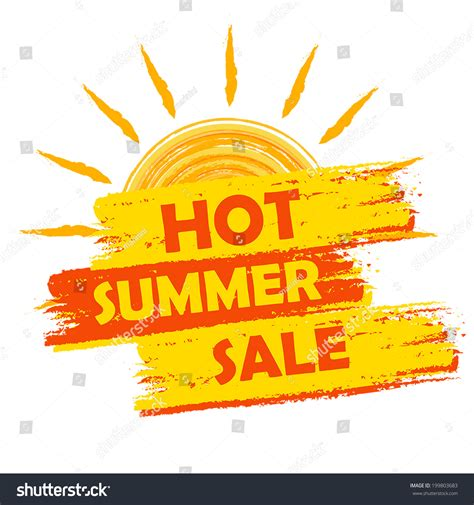 Orange Sale by Summer Sale Banner Text In Yellow And Orange