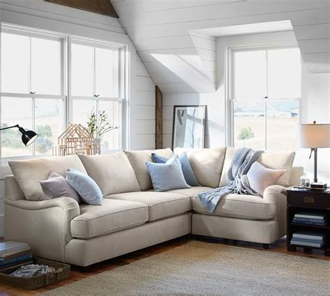 pb comfort sectional pb comfort english arm upholstered 3 piece sectional with