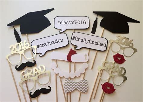 graduation photo booth props printable 2016 2017 now available graduation photo booth props class of