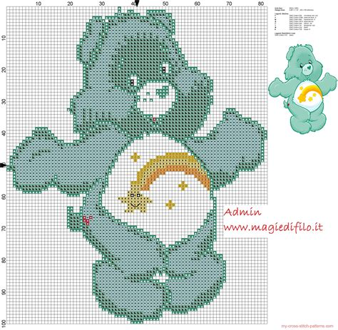 free pattern maker for cross stitch download wish bear from care bears cartoon cross stitch pattern