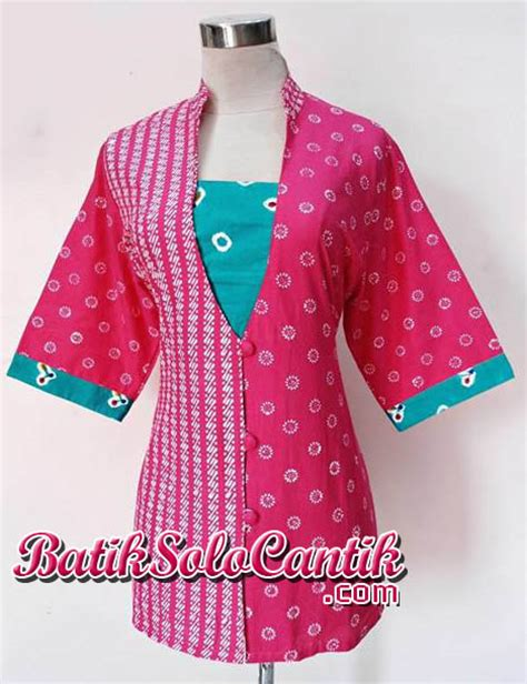 Blouse Santai Bahan Jumputan baju kerja batik motif kombinasi jumputan daniyanti