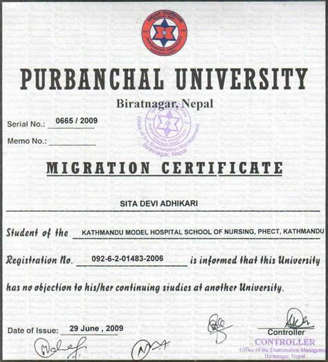 Migration Certificate Letter Registered Cv Sle Dhanak Mubarak Cv Dha Licensed Registered 2 1 Graduate School