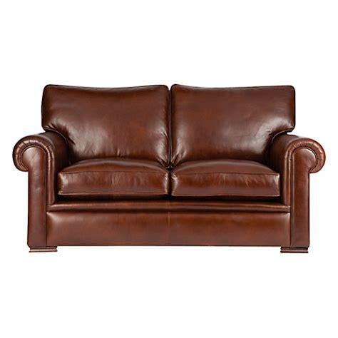 john lewis leather sofa buy john lewis romsey medium leather sofa with dark legs