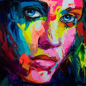 colorful portraits colorful painting francoise nielly s