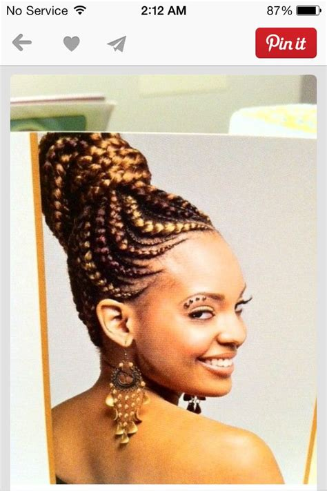 braided pinup hairstyles braids cornrows updo naturally blessed pinterest