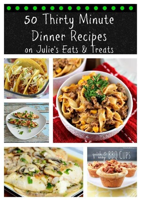 50 easy dinner recipes for two mrfood 50 thirty minute dinner recipes julie s eats treats