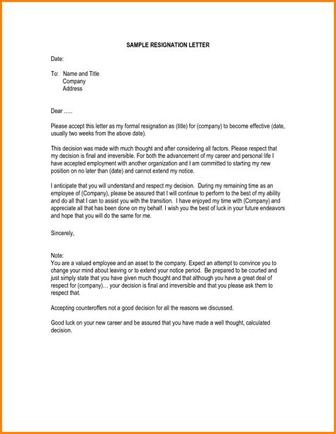 how to write letter format exles 9 how to write a resignation letter sle ledger paper