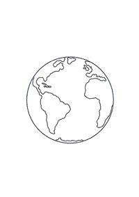 globo terrestre preto e branco - Pesquisa Google | Desenho