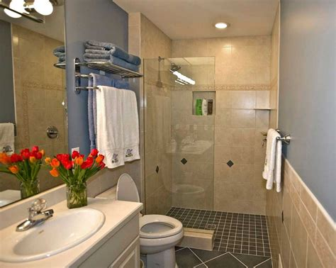Showers Bathrooms Walk In Shower Ideas For Small Bathrooms With Black Tile Flooring Home Interior Exterior