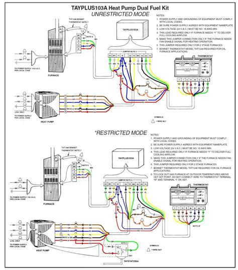 goodman heat wiring diagram thermostat periodic