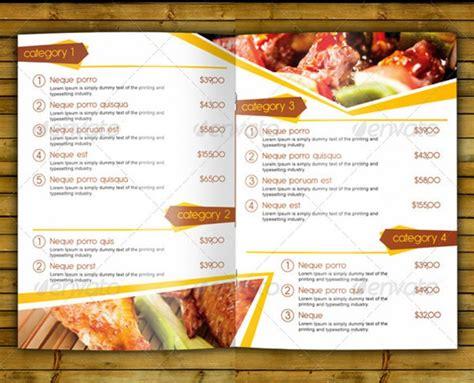 Moderne Speisekarten Vorlagen moderne speisekarten vorlagen 28 images restaurant