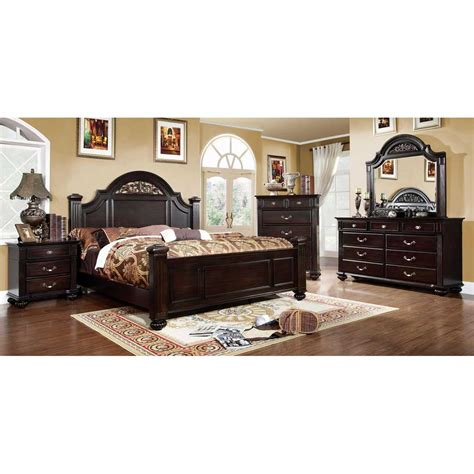 Import Direct 6 Piece Cal King Bedroom Set Bedroom Furniture Sets