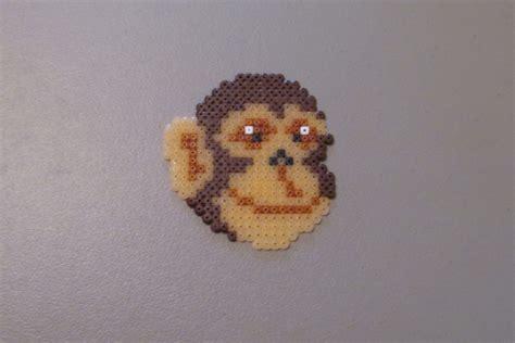 bead monkey perler bead monkey diy