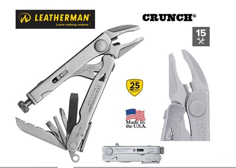 where are leatherman multi tools made leatherman crunch multi tool 15 tools in 1 made in usa