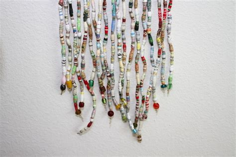 paper bead curtain book bead curtain art trashy craft 63 recycled craft