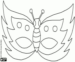 butterfly mask coloring pages