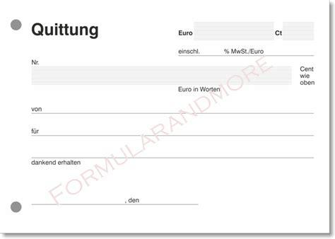 Rechnung Deutschland Schweiz Umsatzsteuer 3x Quittungsblock Mit100 Blatt Einfach Quittung Neu