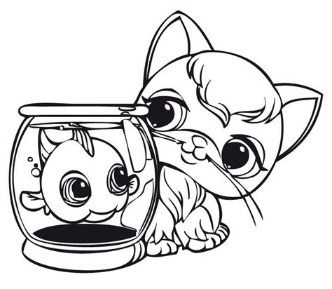 my littlest pet shop coloring pages coloring home