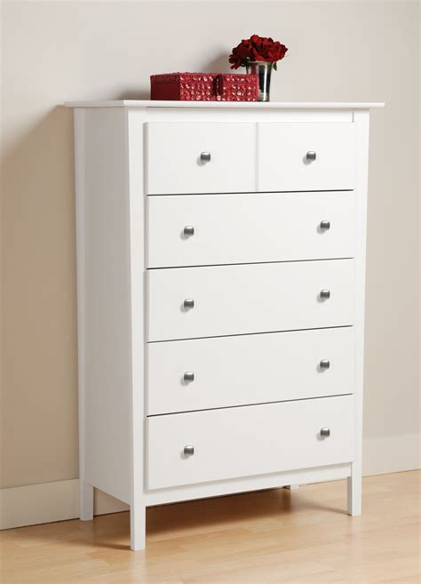 Kmart 5 Drawer Chest by Prepac Berkshire White 5 Drawer Chest