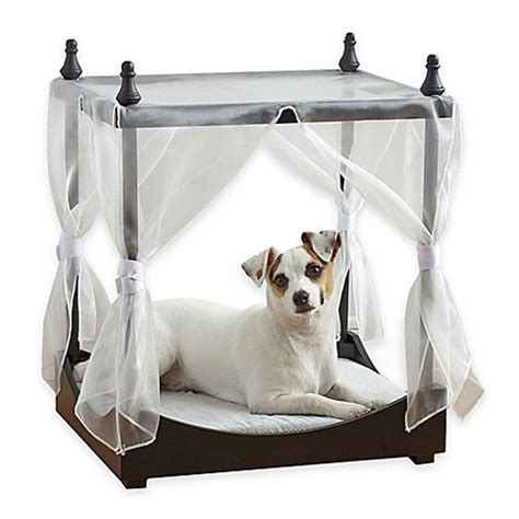 cat canopy bed pawslife pet canopy bed bed bath beyond