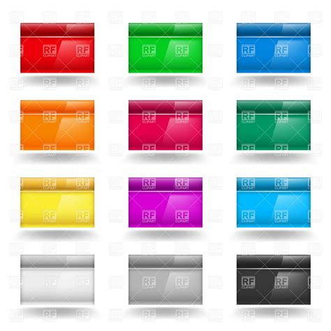 design elements square color set of square design elements or badges royalty free