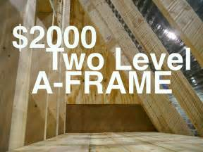 A Frame House Kit An A Frame Cabin Or Tiny House For 2000 Quot The Dart