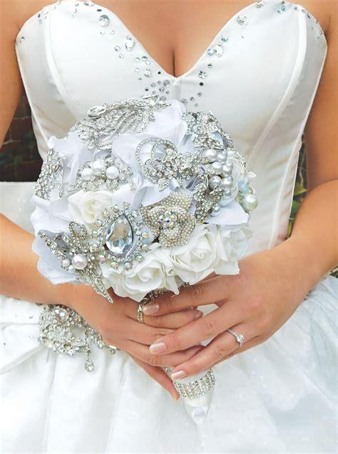 Silk Wedding Bouquets by Silk Flower Wedding Bouquet Ivory Bridal Bouquet White