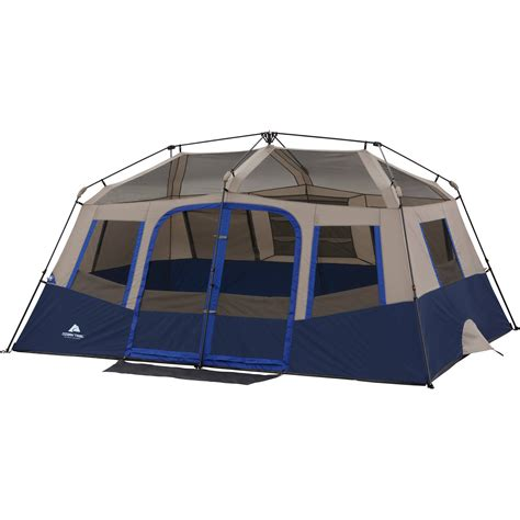 cabin tents ozark trail 10 person 2 room instant cabin tent ebay