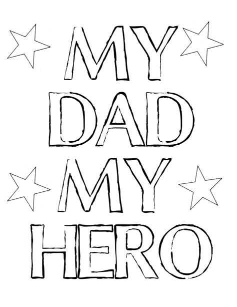 superhero dad coloring page free fathers day printables and more the diy village