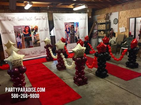 prom send  party decor   prom balloons prom