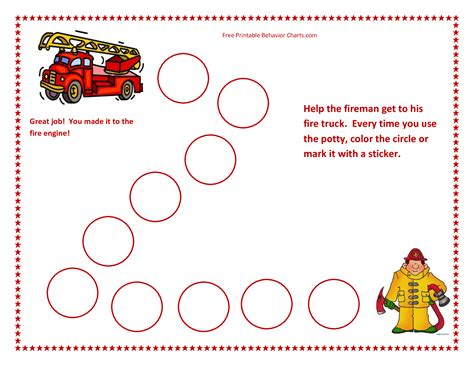 preschool behavior charts fire truck google search