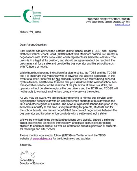 tdsb tcdsb schools send letter home warning parents of