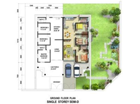 single storey semi detached house floor plan single storey semi detached bandar saujana sdn bhd